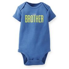 Carter's Baby Boys Slogan Bodysuit  Little Brother 12 Months Blue New w Tag