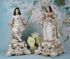 Exclusive rare Pair of Vieux Paris/vieux bruxelles  Porcelain Marquis MArquise