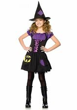 BLACK CAT WITCH CHILD HALLOWEEN COSTUME GIRL'S SIZE MEDIUM 7-10