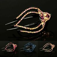 US Large Alligator Hair Clips Crystal Rhinestone Hair Claw Clamp Hairpin Women