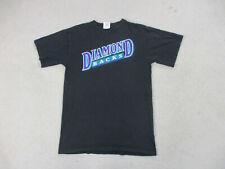 VINTAGE Arizona Diamondbacks Shirt Adult Medium Black Purple Baseball Mens 90s *