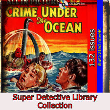 Super Detective Library Magazines, crime,mystery, action 132 illustrated stories