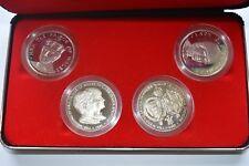 More details for 1981 charles diana royal wedding proof 4 crown medal set + case