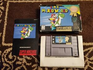 Super Mario World (Super Nintendo, SNES) Game+ Manual+Box - Player's Choice
