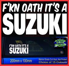 Funny Stickers for SUZUKI Jimny Sierra Vitar Car decals 4x4 FKN OATH 200mm
