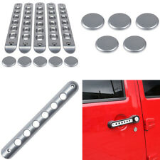 Door Handle Insert Cover Push Button For 2007-2018 Jeep Wrangler JK Unlimited ya