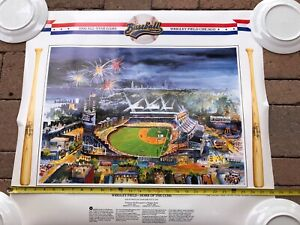 Wrigley Field Friendly Confines 1990 All Star Game Chicago Cubs poster/print