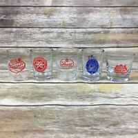 Lot of 5 Beer Tasting Glasses Falstaff Pearl Red Hook Shock Top Breckenridge EUC