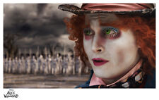 "Alice in Wonderland Game of War Paper Giclee Print - 11"" x 17"" Tim Burton"