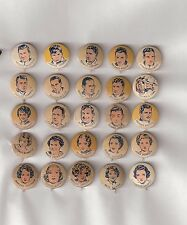 Complete Pin Set 25 Movie Star Cracker Jack Pinbacks