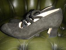 Pied 'a Terre Talla 37 Vintage Zapatos suela de cuero, cuero superior, una vez usado