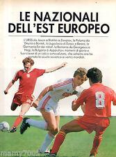FASCICOLO IL GRANDE CALCIO FABBRI=LE NAZIONALI DELL'EST EUROPEO=URSS-JUGOSLAVIA