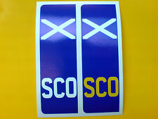 NUMBER PLATE SCOTLAND Saltire Europlate Car Van Stickers Decals 2 off 104mm