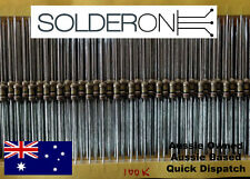 CR25 0.25W 100k Ohm (100K) Carbon Film Resistor (25 Pieces)