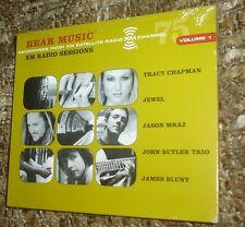 HEAR MUSIC XM RADIO SESSIONS VOLUME 1 CD, NEW & SEALED, RARE, JEWEL, MRAZ,BLUNT