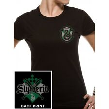 Harry Potter Slytherin House Women's Black T-shirt SKINNY Fit Extra Large (uk 14 - 16) Pe14728skb1x