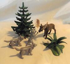 Playmobil Rare Moose & Wolves set #3829, Arctic Wilderness, Woodland Zoo Animals