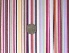 MULTICOLOUR VARIABLE SIZED STRIPES - 100% COTTON FABRIC F.Q.'S