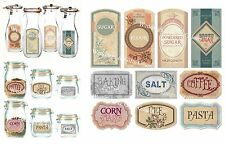 Vintage Fancy Stickers Labels for Jars Pantry Canister 10pcs
