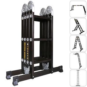 6 in 1 Multi Purpose Folding Aluminium Heavy Duty Ladder
