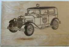 Laser Cut Wood Car Plaques-Wall Art-Counter Displays Vintage Police Car