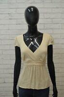 BLUNAUTA Donna Taglia S Canottiera Blusa in SETA Maglia Camicetta Shirt Women