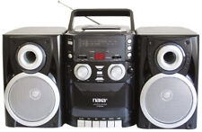 Portable CD Player AM FM Stereo Boombox Radio Cassette Tape Recorder Old School