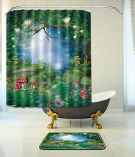 "Fairy Tale Bathroom Mat Waterproof Polyester Fabric Shower Curtain 12 Hook 72"" 3"