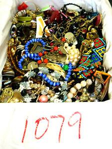 MIXED JUNK SCRAP CRAFT JEWELRY FASHION, WATCH 10 LBS LOT #1079