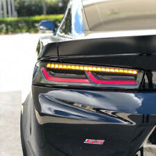 Chevy Camaro Smoked LED Sequential Tail Lights   Amber Signal 2016 2017 2018