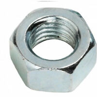 M3 x 0.5 pitch METRIC HEX FULL NUTS ZINC PLATED STEEL PACK OF 100