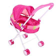 Kids Newborn Baby Buggy Stroller Pushchair Pram Girls Foldable Toy Play Dolls
