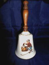 Big - 1979 - Boy Meets Dog- Rockwell Bell w Wood Handle - Gorham Usa