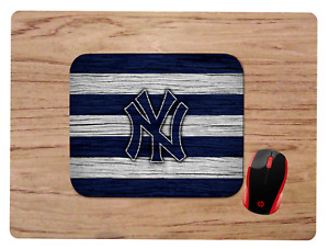NEW YORK YANKEES WOODGRAIN DESIGN MOUSEPAD MOUSE PAD HOME OFFICE GIFT MLB