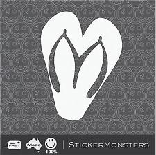 LOVE SUMMER Thongs Heart Surf Skate Sticker Decal 120mmH Car Skate Quicksilver.