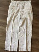 Rare Vintage Men's 1930s 40s Button Fly Cotton White Twill Pants Gusset 34 x 29