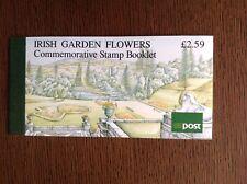 IRELAND: 1990 IRISH GARDEN FLOWERS Complete Booklet with 2 UM Mint Panes SG SB36