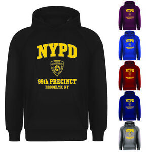 Adults Unisex Mens Womens NYPD Retro Cool New York Pullover Hoodie Top S-XXL