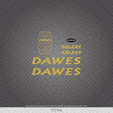 01114 Dawes Galaxy Bicycle Stickers - Decals - Transfers - Gold