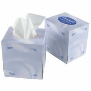 CloudSoft Luxury White Cubed Box Boutique Tissues 2ply Case 24
