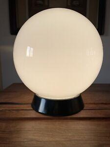 Vintage Art Deco Large Opaline Spherical Globe Ceiling Light Milk Glass C:-1940s