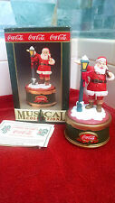 Coca Cola Santa With Lamp (1993)  Musical Collection New In Box-MINT!