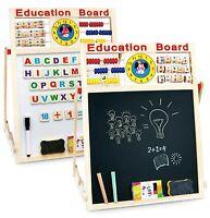 6 In 1 Educational Learning Activity Drawing Board Kids Art Easel Wooden