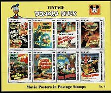 GUYANA - 1994 DONALD DUCK MOVIE POSTERS - UHM - Sc#2773 - DIS 35