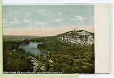 Vintage c1907 Postcard ~ Monhonk Lake Ny ~ View from Eagle Cliff Tower