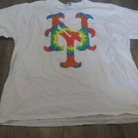 MLB New York Mets Baseball  Team Logo T Shirt Mens colorful xl
