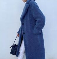 ZARA Limited Edition Faux Shearling Coat, Bloggers Fave, 4360/242, BLUE, M, NEW