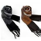 2016 Fashion Men Warm Winter Scarf Pashmina Striped Cotton Shawls Scarves