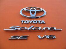 04 05 06 TOYOTA SOLARA SE V6 REAR TRUNK LID CHROME EMBLEM LOGO BADGE SIGN SET #2