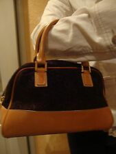 AUTHENTIC CELINE BROWN SUEDE TAN LEATHER SPEEDY HANDBAG MADE IN ITALY